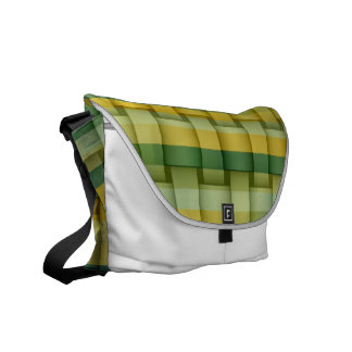 Yellow and green stripes painting graphic design commuter bags