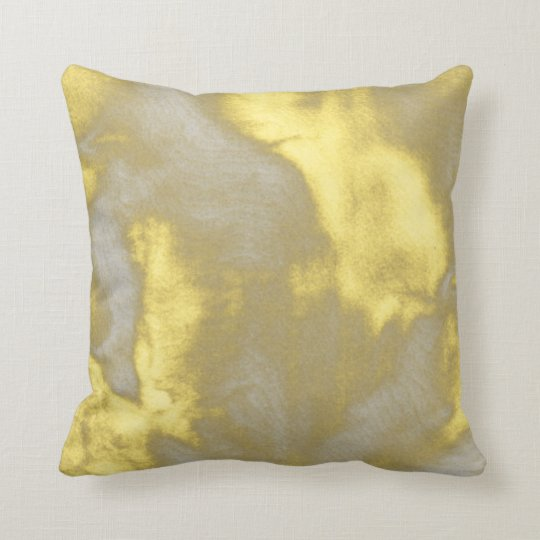 Yellow and Grey Abstract Bouquet Pillow