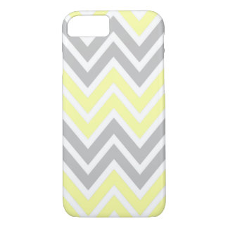 Yellow and Grey Chevron iPhone 7 Case