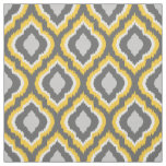Yellow and Grey Ikat Moroccan Fabric
