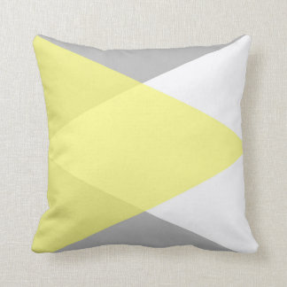 Yellow and Grey Lovers Throw Pillow