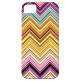 Yellow and hot pink chevron iPhone 5 case