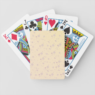 Yellow and Lavender Sprinkle Stars Bicycle Playing Cards