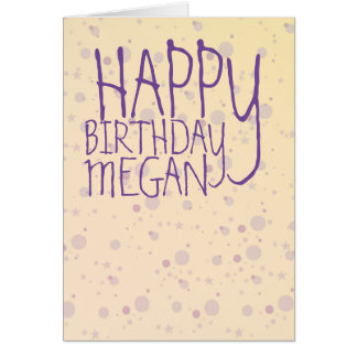 Yellow and Lavender Sprinkle Stars Card