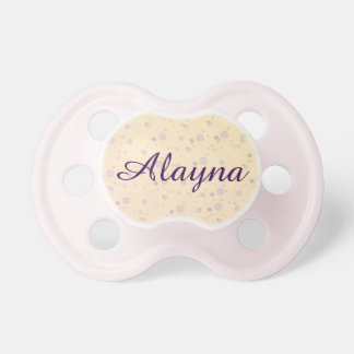Yellow and Lavender Sprinkle Stars Pacifier