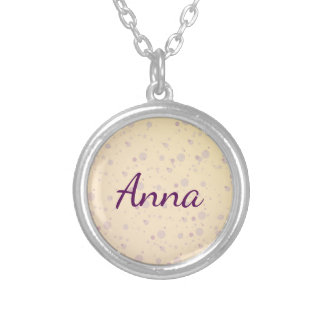 Yellow and Lavender Sprinkle Stars Silver Plated Necklace