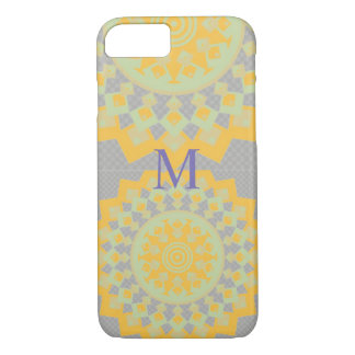 Yellow And Lilac Aztec  Abstract Art  i Phone case