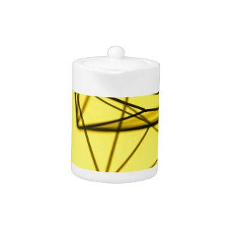 Yellow and Metal Geometric Design