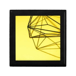 Yellow and Metal Geometric Design Gift Box