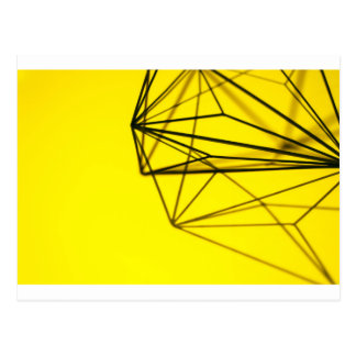 Yellow and Metal Geometric Design Postcard