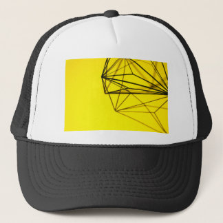Yellow and Metal Geometric Design Trucker Hat