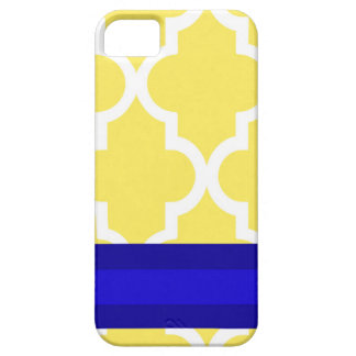 Yellow and Navy Cell Phone Case