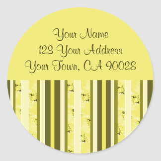 Yellow and Olive Green Address Labels