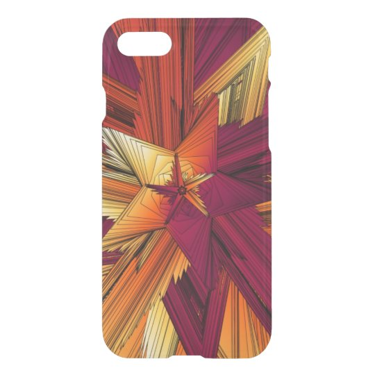Yellow and Orange Abstract Stars iPhone 7 Case