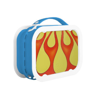 Yellow and orange flames that are bright lunchbox