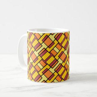Yellow and orange funky mug