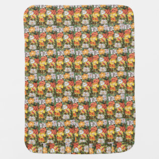Yellow and orange paper flowers Baby Blanket