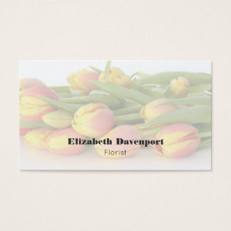 Yellow and Orange Tulips Professional Florist Business Card