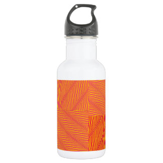 Yellow and Orange Waves 532 Ml Water Bottle