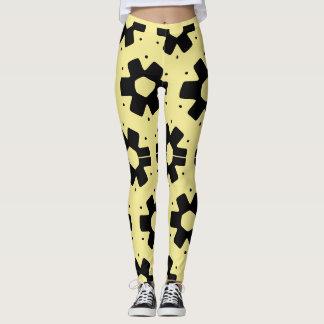 yellow and pattern leggings