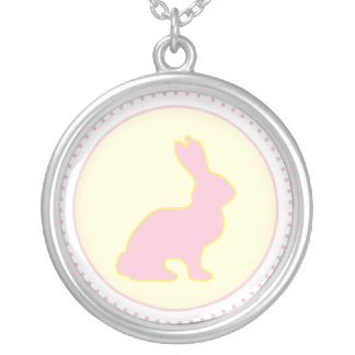 Yellow and Pink Bunny Necklace