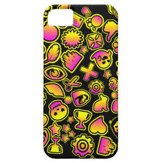 Yellow and Pink Emoji Monsters - iPhone 5 Cases