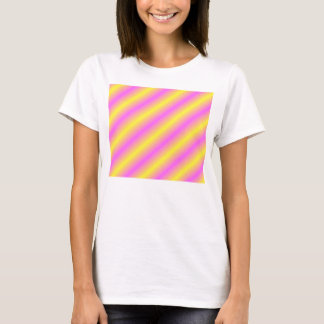 Yellow and Pink Neon Sideway Lines T-Shirt