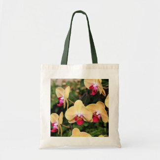 Yellow and Pink Orchids Tote