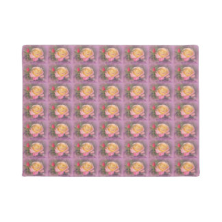Yellow and Pink Roses Doormat