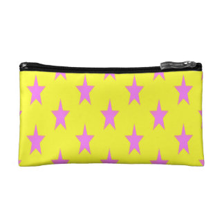 yellow and pink starcolors Small Cosmetic  Bag