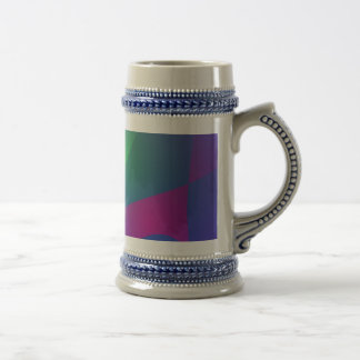 Yellow and Purple Abstract Composition Mugs