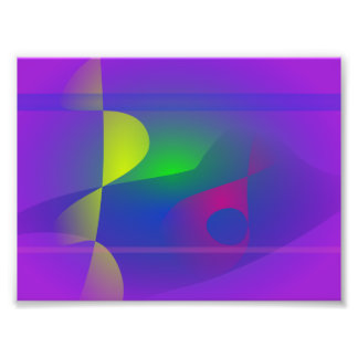 Yellow and Purple Abstract Composition Photo