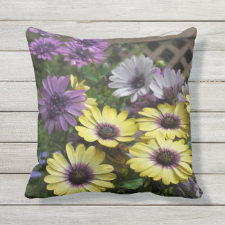 Yellow and Purple African Daisies OutDoor Pillow