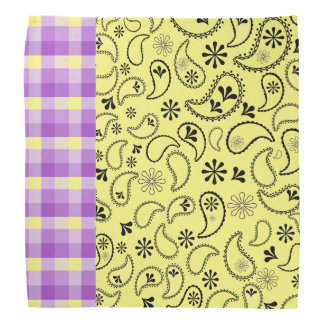 Yellow and Purple Bandana