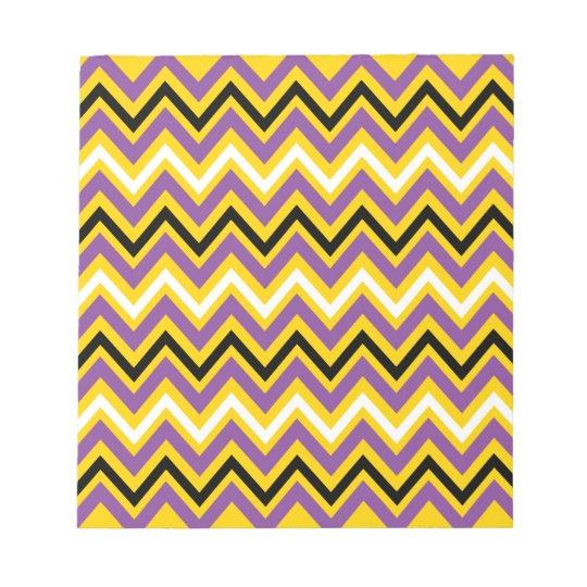 Yellow and Purple Chevron Pattern Notepad