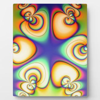 Yellow And Purple fractal Plaque