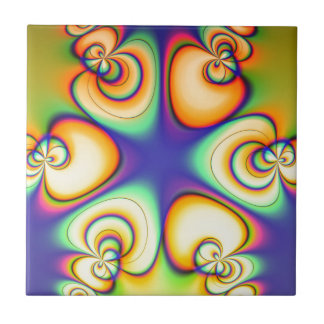 Yellow And Purple fractal Tile