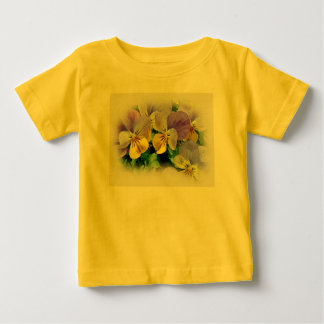Yellow and Purple Pansies Baby T-Shirt