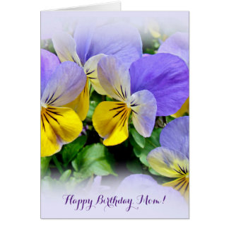 Yellow and Purple Pansies Card