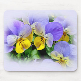 Yellow and Purple Pansies Mouse Pad