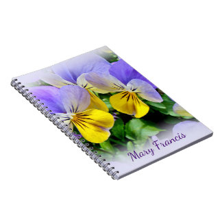 Yellow and Purple Pansies Notebooks