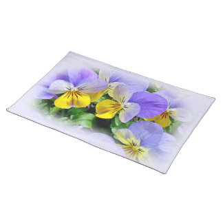 Yellow and Purple Pansies Placemat