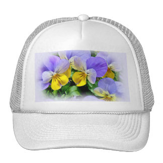 Yellow and Purple Pansies Trucker Hat