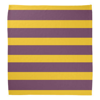 Yellow And Purple Sripes Bandana