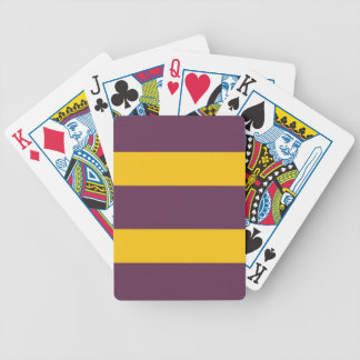 Yellow And Purple Sripes Bicycle Playing Cards