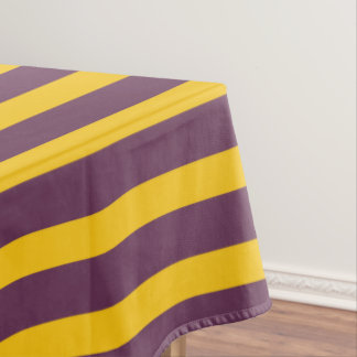 Yellow And Purple Sripes Tablecloth