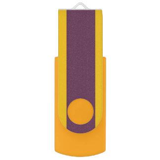 Yellow And Purple Sripes USB Flash Drive