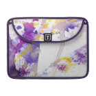 yellow and purple watercolor background sleeve for MacBook pro