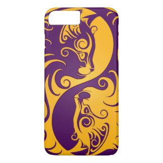 Yellow and Purple Yin Yang Cats iPhone 7 Plus Case