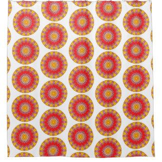 Yellow and Red Boho Round Mandala (Lg Print)